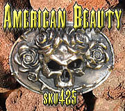 Belt Buckle Jewelry - American Beauty by Dire Needz
