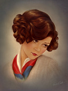 1920s Art - American Beauty by Evie Cook