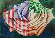 Sokolovich Painting Prints - American Beauty Irish Rose Print by Ann Sokolovich
