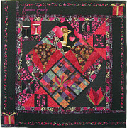 Love Tapestries - Textiles Framed Prints - American Beauty Framed Print by Salli McQuaid