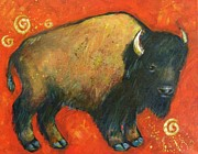 Bison Bison Prints - American Bison Print by Carol Suzanne Niebuhr