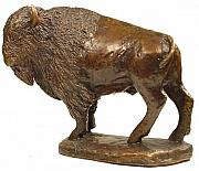 Animal Sculpture Posters - American Bison Poster by Lisbeth Sabol