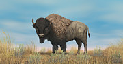Bison Digital Art - American Bison by Walter Colvin