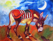 Burro Mixed Media - American Burro by Ellen Marcus