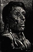 Indian Ink Prints - American Chief Print by Brian Child