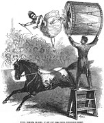 Drum Horse Photos - American Circus, 1860 by Granger