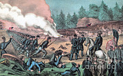 Army Of The Potomac Art - American Civil War, Battle Of Cold by Photo Researchers