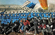 The General Lee Art - American Civil War, Battle Of Malvern by Photo Researchers