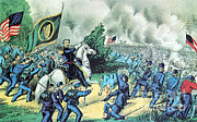 1st Brigade Posters - American Civil War, Battle Of Seven Poster by Photo Researchers
