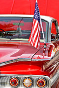 Red Street Rod Prints - American Classic Impala Print by Carolyn Marshall