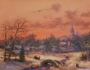 Snow Scene Art - American Classic by Tom Shropshire