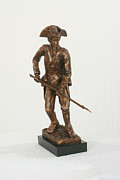 Three Cornered Hat  Sculptures - American Continental Soldier by Alan Thompson