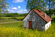 Rural America Prints - American Country Farmhouse Print by Olivier Le Queinec