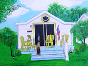Beach Hut Paintings - American Dream by Gordon Wendling