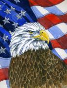 Patriotic Paintings - American Eagle by Mark Jennings