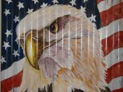 American Eagle Paintings - American Eagle by Patty Sjolin