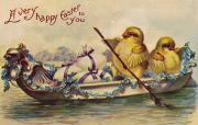 Anthropomorphism Posters - American Easter Card Poster by Granger