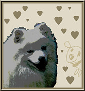 Puppies Digital Art Framed Prints - American Eskimo Framed Print by One Rude Dawg Orcutt
