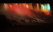Festival Of Light Framed Prints - American Falls of Niagara at Night Framed Print by Charline Xia