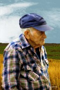 Old Man Digital Art - American Farmer by RC DeWinter