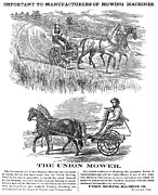 Mower Prints - American Farming Ad, 1864 Print by Granger