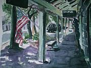 Fourth Of July Painting Originals - American Flag by Aleksandra Buha