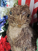 American Independance Photo Metal Prints - American Flag Bunny Display Metal Print by JB Ronan