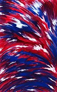 Red White Blue Paintings - American Flag by Michael Vigliotti