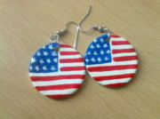 Flag Jewelry - American Flag by Teodora Georgieva