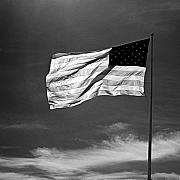 Contrasty Acrylic Prints - American Flag Acrylic Print by Troy Ziel