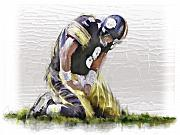 Football Pastels - American Football by James Robinson