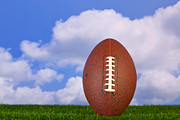 Sport Equipment Prints - American football teed up Print by Richard Thomas
