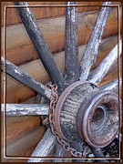 Chains Photos - American Frontier Wagon Wheel by Karon Melillo DeVega