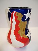 Vase Ceramics - American Girl 2 by Chris Mackie