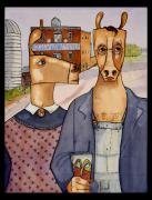 Mcdonalds Paintings - American Gothic by Jennifer Wiggs