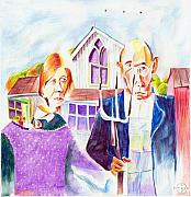 Gary Peterson Art - American Gothic Retooled by Gary Peterson
