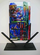 Fused Glass Art - American Graffiti by Mark Lubich