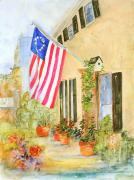 American Flag Mixed Media Originals - American Heritage by Nancy Brennand