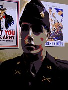 Dress Uniform Posters - American Hero 5 Poster by Randall Weidner