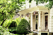 Front Porch Prints - American home Print by HD Connelly