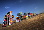 Cadillac Ranch Photos - American Icon by Fred Lassmann