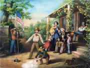 Drummer Art - American Independence 1859 by Granger