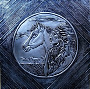 Metal Reliefs - American Indian by Cacaio Tavares