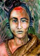 American Indian Drawings - American Indian by Mindy Newman