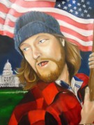 Patriotism Painting Originals - amerIcan by Julianna Wells