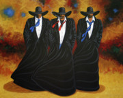 Cowboy Painting Originals - American Justice by Lance Headlee