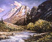 Karl Paintings - American Landscape Before Meg by Karl Frey