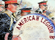 Patriotism Painting Originals - American Legion by Carolyn Coffey Wallace