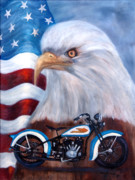 Flags Paintings - American Made by Jan Holman