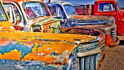 Old Trucks Photos - American Metal by Robert Crespin